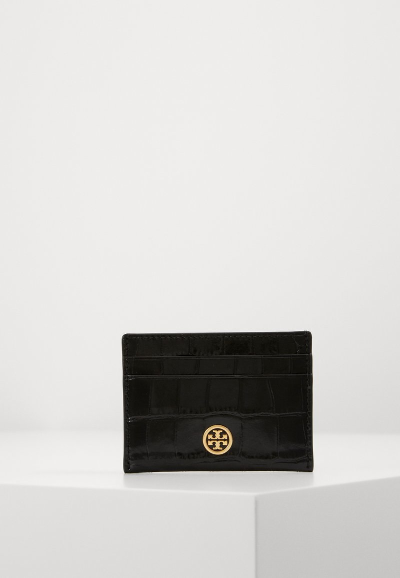 Tory Burch - ROBINSON EMBOSSED CARD CASE - Peněženka - black