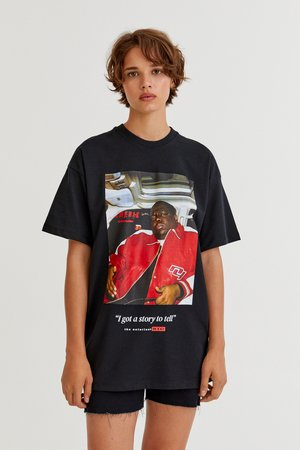 THE NOTORIOUS BIG  - T-shirt con stampa - black