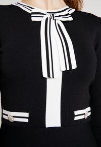 Morgan - Abito in maglia - noir/off white - 6