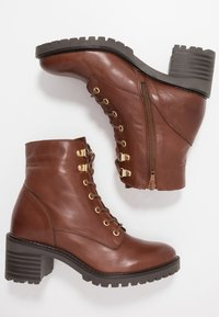KIOMI - Lace-up ankle boots - brown - 3