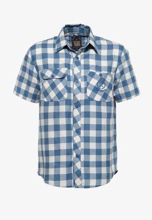 MIT STICKEREI - Overhemd - stahlblau