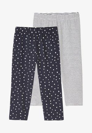2ER-PACK - Leggings - Trousers - nachtblau+gestreift
