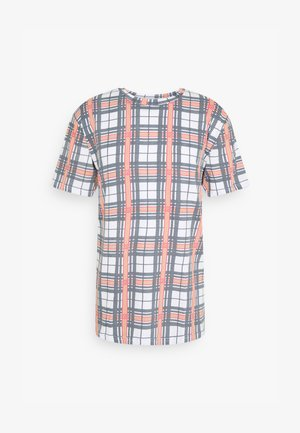 JASON - T-shirt print - white/navy/red