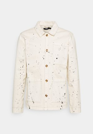 PAINT SPLATTERED WORKWEAR JACKET - Tunn jacka - ecru