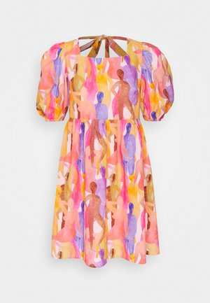 WHO RUN THE WORLD PRINT MINI - Day dress - pink