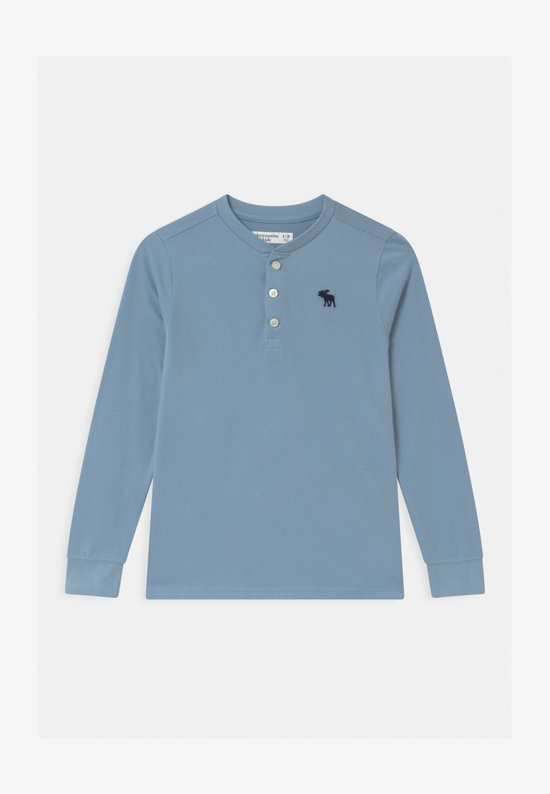 Abercrombie & Fitch - HENLEY - Long sleeved top - light blue