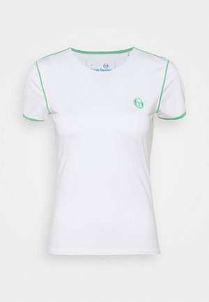 WOMAN - Print T-shirt - blanc de blanc/island green