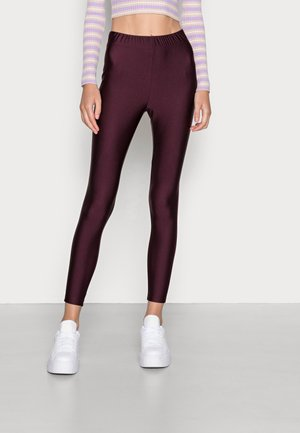 ONLLINA SHINY - Leggings - Trousers - winetasting