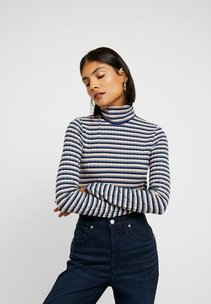 GARBANZO TURTLENECK DRAPY - Long sleeved top - dark mediterranean windmill