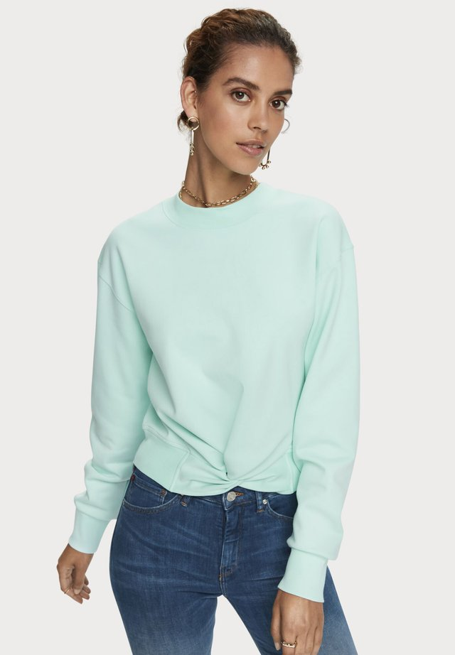 CREW NECK KNOTTED - Sweater - light turquoise