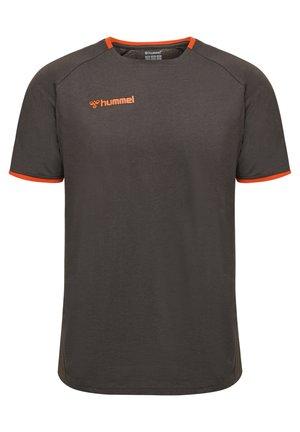 HMLAUTHENTIC - T-shirt print - asphalt
