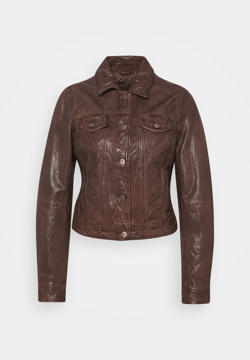 Freaky Nation - JUST FANCY - Leather jacket - tabacco