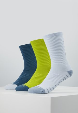 EVERY CUSH 3 PACK - Sports socks - multicoloured/neon green