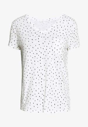 PRINTED SLUB TEE - Triko spotiskem - off white minimal