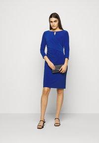 Lauren Ralph Lauren - MID WEIGHT DRESS TRIM - Shift dress - summer sapphire - 1