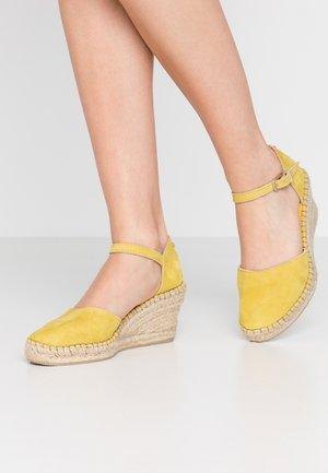 Platform heels - yellow