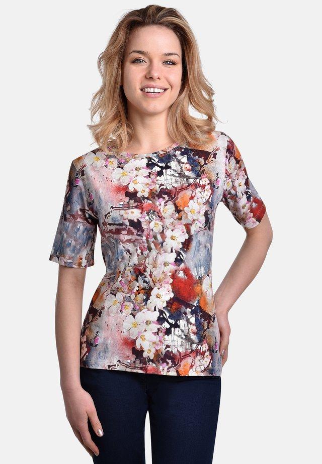T-shirt print - blue-white