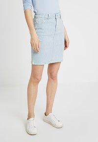 edc by Esprit - STRIPE  - Pencil skirt - blue light wash - 0