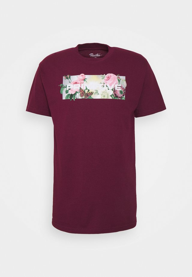 DAYBREAK TEE - T-shirt print - burgundy