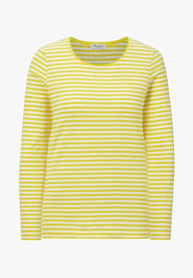 Long sleeved top - splash of yellow