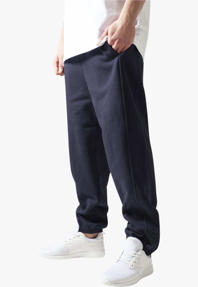 Urban Classics - SWEATPANTS SP. - Tracksuit bottoms - navy
