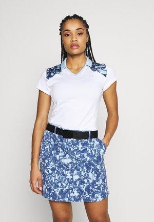 ZINGER BLOCKED - Print T-shirt - white/blue frost