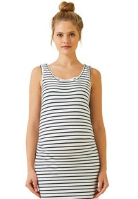 Vertbaudet - Maxi dress - weiß/blau gestreift - 2