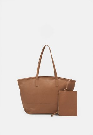 LEATHER SET - Tote bag - tan