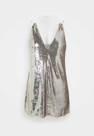 DOUBLE TAKE SEQUIN MINI - Nightie - silver shimmers