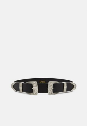 PCLARAH OVERSIZED WAISTBELT - Taljebælter - black/silver-coloured