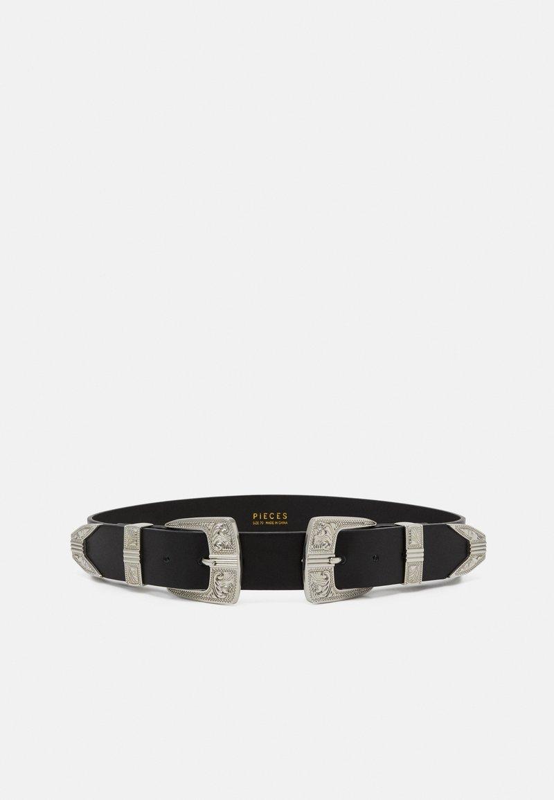 Pieces - PCLARAH OVERSIZED WAISTBELT - Waist belt - black/silver-coloured