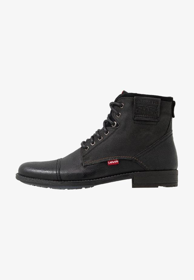 FOWLER - Bottines à lacets - regular black