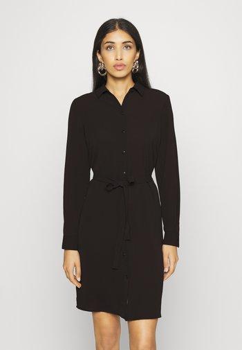 VMSAGA COLLAR SHIRT DRESS  - Shirt dress - black