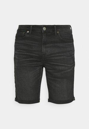 CLEAN CUT OFF - Shorts di jeans - black