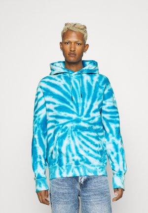 TIE DYE HOODIE UNISEX - Sweatshirt - blue