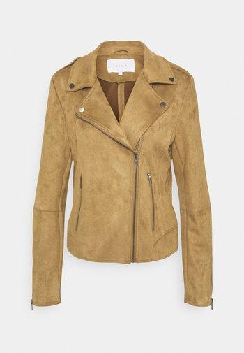 VIFADDY JACKET - Faux leather jacket - butternut