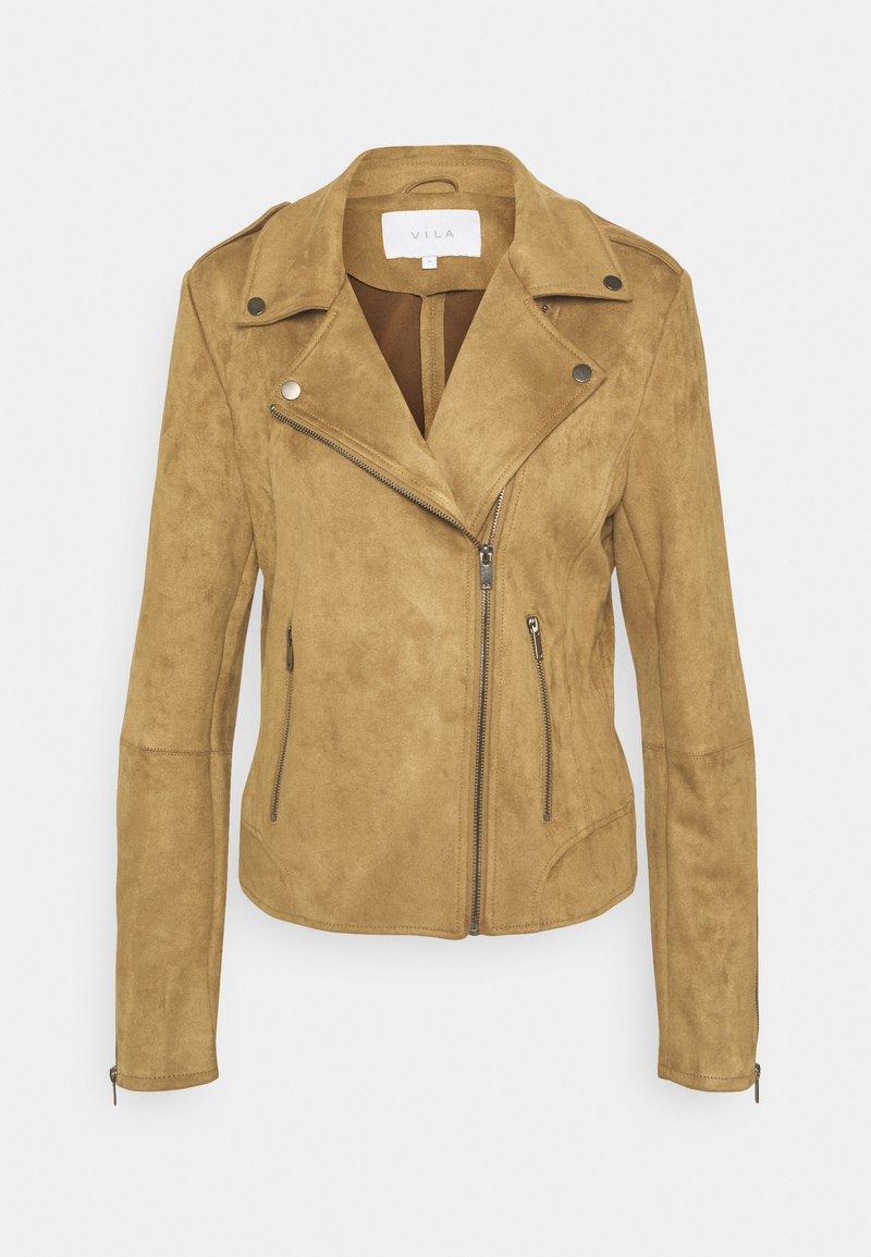 Vila - VIFADDY JACKET - Faux leather jacket - butternut