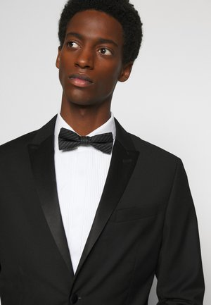 DASHING STRIPE BOW TIE - Motýlek - black