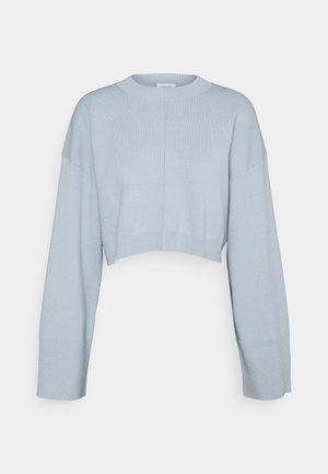 Sweter - blue dusty light