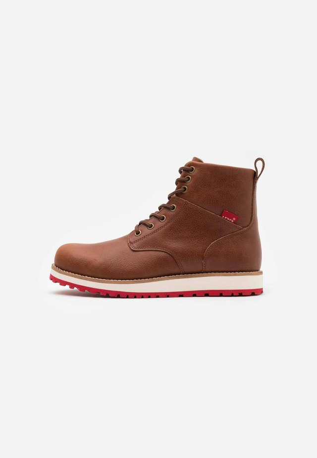 JAX LUX - Bottines à lacets - medium brown