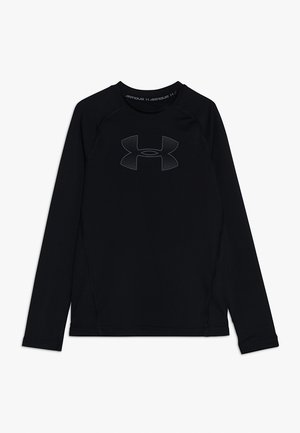 HEATGEAR LONG SLEEVE - Camiseta de deporte - black/pitch gray