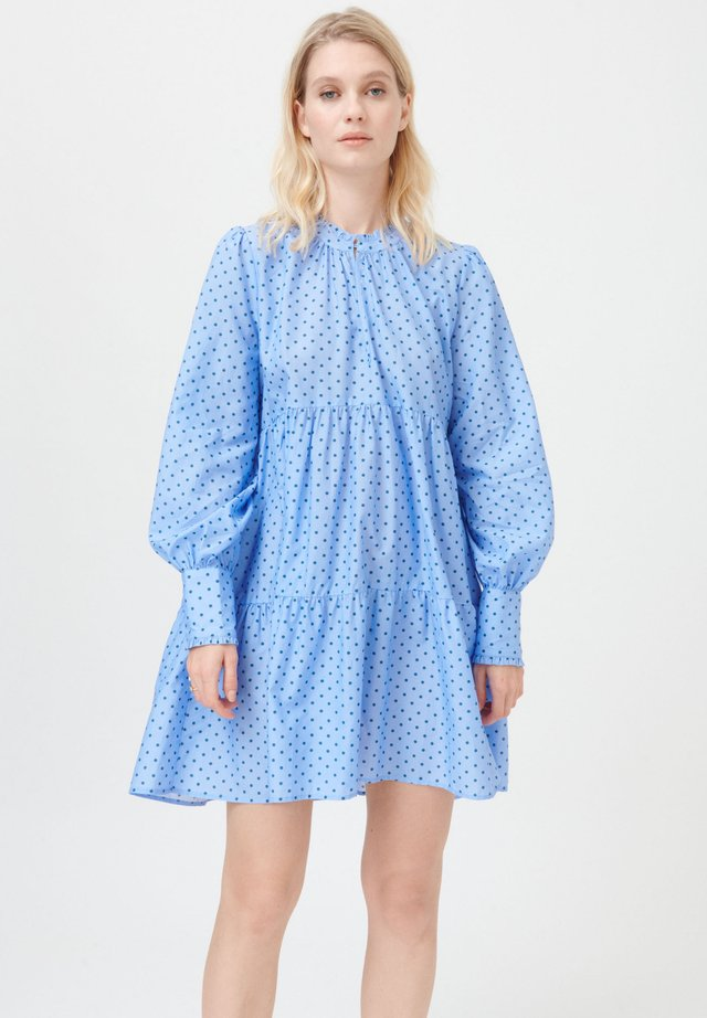 KIRA NS (CO) - Korte jurk - dot blue