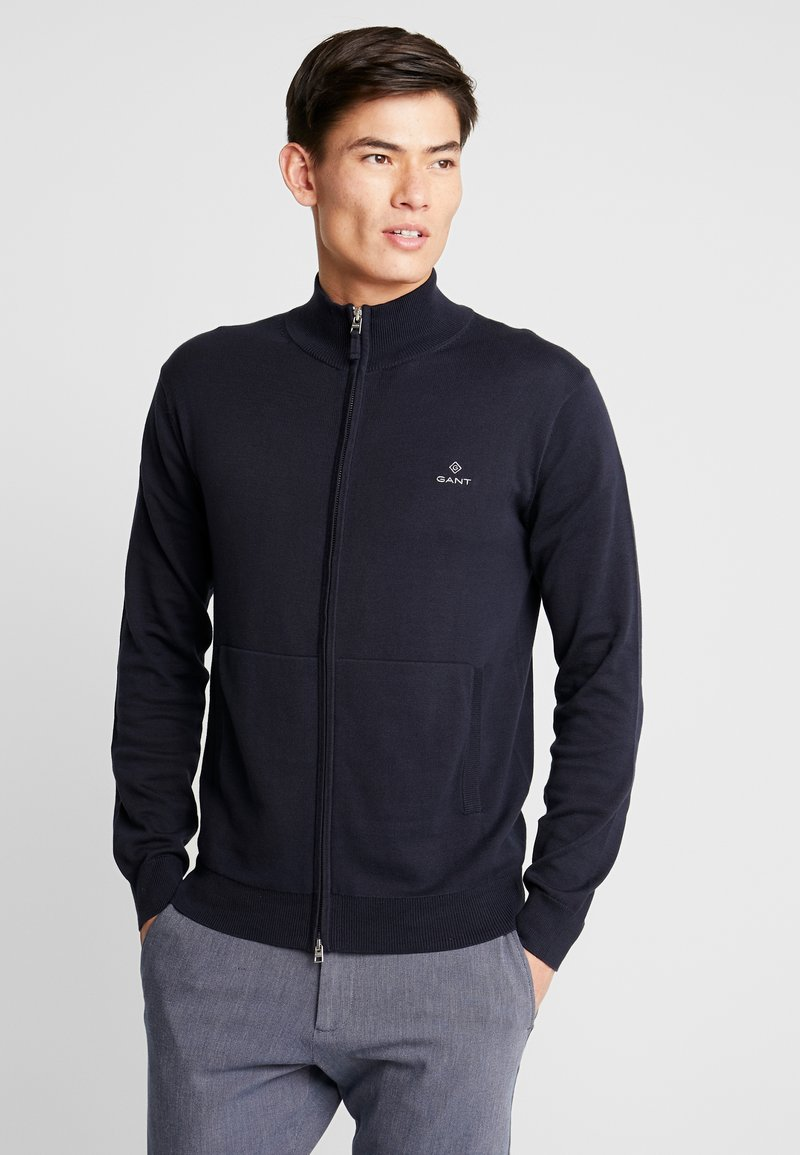 GANT - CLASSIC ZIP CARDIGAN - Kofta - evening blue