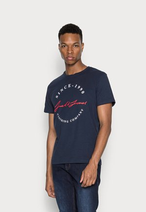 JJHERRO TEE CREW NECK - Print T-shirt - navy blazer
