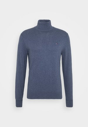 PIMA ROLL NECK - Pullover - faded indigo heather