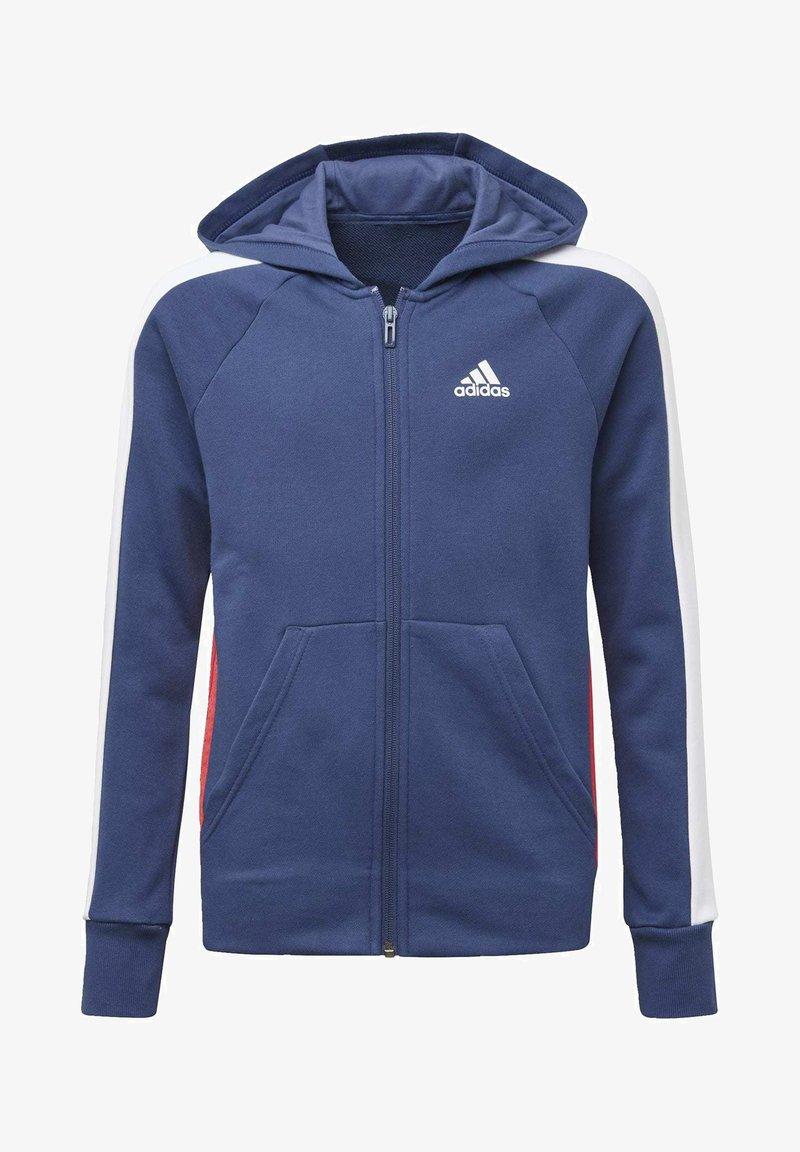 adidas Performance - ADIDAS ATHLETICS CLUB  HOODIE - Felpa aperta - blue