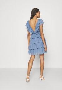 Lace & Beads - MINI - Cocktail dress / Party dress - blue - 2