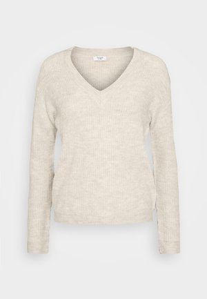 JDYGAMMY V-NECK - Jumper - oatmeal