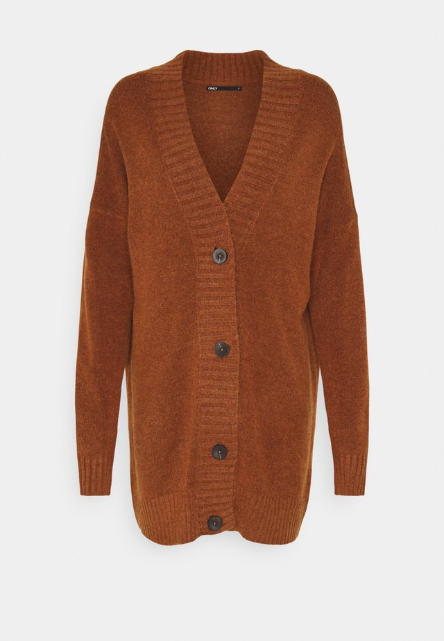 ONLSANDY BUTTON CARDIGAN - Gilet - tortoise shell/melange