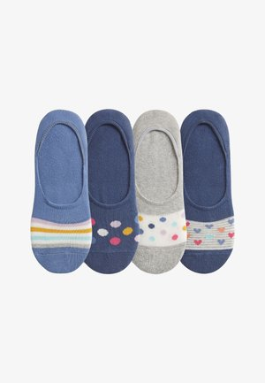 4 PACK - Trainer socks - blue/grey